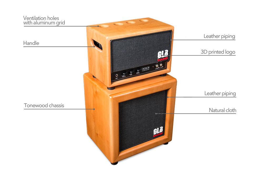 gig50R - glb sound - leather cover - amplification - valvestate - cabinet - 1x12 - tonewood