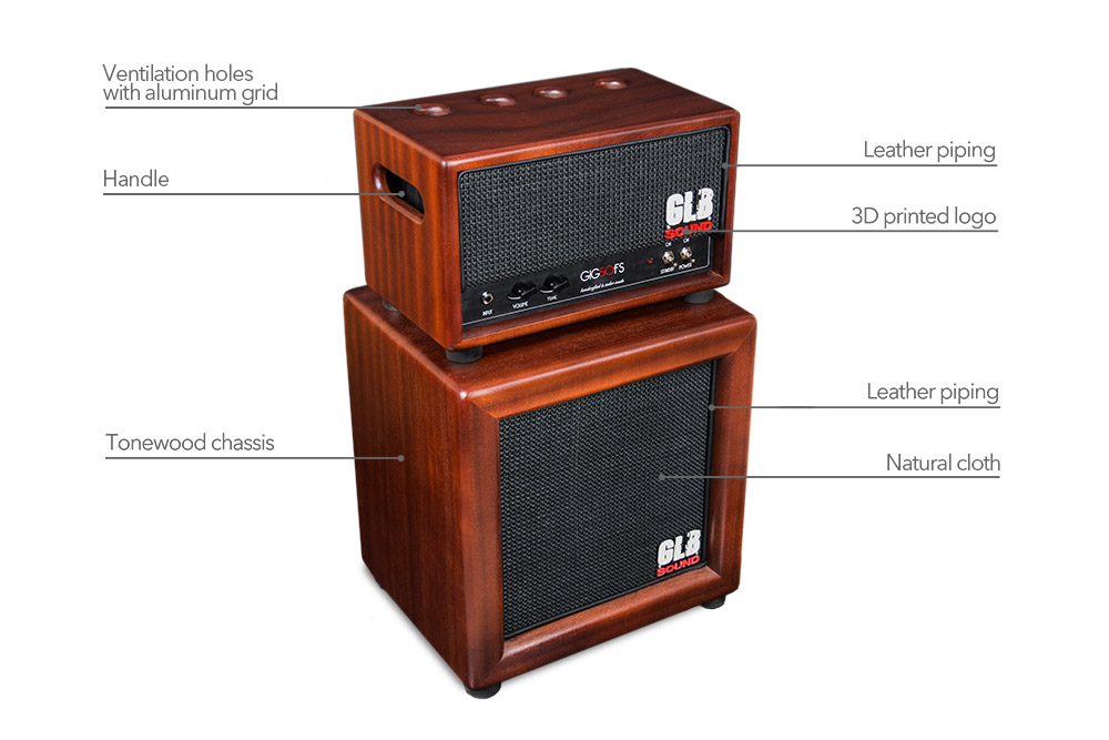 gig50fs - glb sound - leather cover - amplification - valvestate - cabinet - 1x12 - tonewood