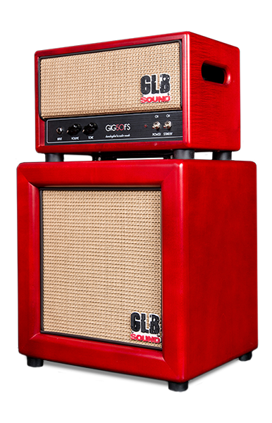 GLB Sound - amplification lutherie - GIG50 - valvestate amp - set-up - speaker - cabinet - 1x12 - guitar -archtop amplification - maple - red
